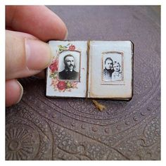 Open House Miniatures - Tutorial Victorian Dolls' House Photograph Album