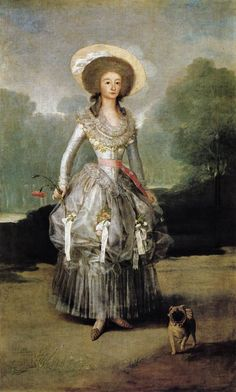 Portrait of María Ana de Pontejos y Sandoval, Marchioness of Pontejos by Francisco de Goya, ca 1786 Spain, National Gallery of Art, Washington DC