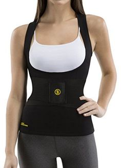 fbeb6779a3 Hot Shapers Women s Cami Hot With Waist Trainer Belt Slimming Activewear  Compression Vest For Thermal calorie