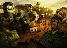 Dragon Age Concept Art: Denerim Village