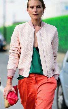Color blocking. | Street Style | LFW SS 2016