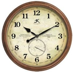 Infinity Instruments The Explorer Wood Wall Clock --- http://viewn.us/12i