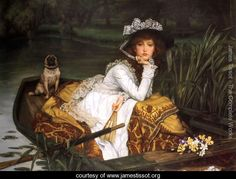 James Jacques Joseph Tissot Young Lady in a Boat art painting for sale; Shop your favorite James Jacques Joseph Tissot Young Lady in a Boat painting on canvas or frame at discount price. Pugs, World Famous Paintings, Famous Artists, Famous Artwork, Dante Gabriel Rossetti, Fu Dog, Canvas Prints, Art Prints, Canvas Art