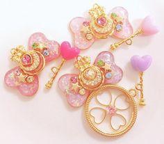 fairy, glitter, heart, japanese, kawaii, key, magic, pastel, pink, purple, ribbon, toys, yumekawaii