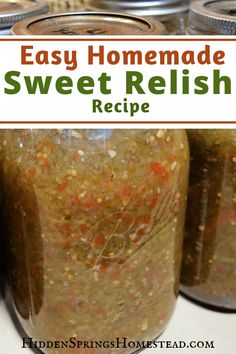 How to make Sweet Relish EASY HOMEMADE SWEET RELISH RECIPE. Dinners are just not complete without homemade sweet relish. You'll be canning your very own with this easy recipe. Quick and simple. Your family will love it. Cucumber Relish Recipes, Jelly Recipes, Cat Recipes, Recipies, Healthy Recipes, Green Tomato Relish, Easy Canning, Canning Labels, Canning Vegetables