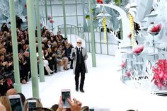 Karl Lagerfeld at the Chanel couture show.