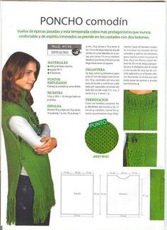 poncho verde con tuto 2