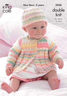 Vibrant babies coat and hat - King Cole