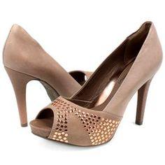 Peep Toe Ramarim R$159.90 (em até 10x) - Compre aqui: http://www.footcompany.com.br/Peep-Toe-Ramarim-1322108-Pele-13-22108PELE/p