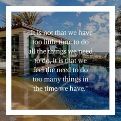 """""""It is not that we have too little time to do all the things we need to do, it is that we feel the need to do too many things in the time we have."""" -Gary Keller ⠀ Photo Credits: Rudy Loza⠀ Although this applies to any profession, it is especially fitting for Real Estate Agents. Having to balance clients, properties, showings, meetings and marketing efforts, it's important to remember that there is a limit to the number of tasks you can accomplish by yourself. Once you accept that, you will…"""