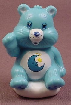 Care Bears Bedtime Bear Figure Sitting On A Cloud, 2 1/2 Inches Tall, TCFC, 2003