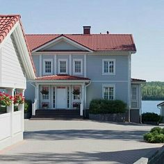 Garage Doors, Mansions, House Styles, Outdoor Decor, Aurora, Home Decor, Decoration Home, Manor Houses, Room Decor