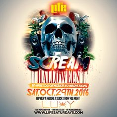 LIFE SATURDAYS - SCREAM HALLOWEEN  #Halloween2016 Scream Halloween, Halloween 2016, Get Tickets, Life