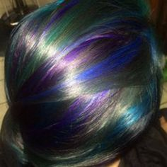 How to Create Oil Slick Hair - Tricoci University of Beauty Culture Funky Hair Colors, Bold Hair Color, Bright Hair, Colourful Hair, Slick Hairstyles, Funky Hairstyles, Oil Slick Hair Color, Hair Wax, Hair Shows