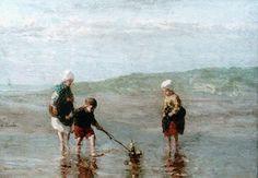 Jozef Israels (1824-1911) Bootje varen.