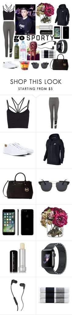 """""""Sin título #439"""" by karla-armstrong ❤ liked on Polyvore featuring Sweaty Betty, Sundry, Converse, NIKE, Michael Kors, Evian, Marc Jacobs, Skullcandy and James Perse"""