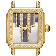 Women's Michele Deco Skyline Diamond Diamond Dial Watch Case, 33Mm