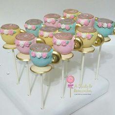 Tea cup cake pops Girls Tea Party, Tea Party Theme, Tea Party Birthday, Teapot Cookies, Teapot Cake, Tea Party Activities, Baby Shower Desserts, Tea Party Bridal Shower, Dessert Buffet
