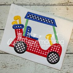 Golf Cart Applique Design by AppliqueMommaDesigns on Etsy