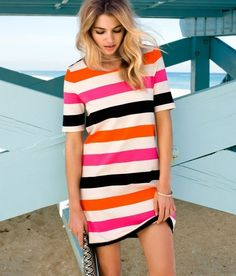 Striped, comfy dress. Cute.