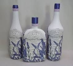 Resultado de imagem para how to fabric decoupage wine bottle