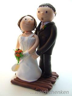 Tortenfigur Tortenfiguren Brautpaar stehend
