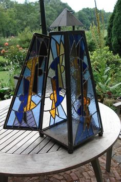 lantern, stained glass, beautiful