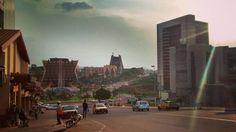 #Yaounde city center love the lights #Cameroun #Africa