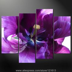 Purple Wall Art Decor | Purple-Premium-Wall-Art-Cascade-Picture & 3 piece wall art white purple lover flower big perfect canvas wall ...