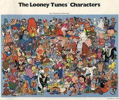 The Looney Tunes...watched them all the time. I loved Taz, Pepe Le Pew, Marvin the Martian, and Wile E. Coyote. Is it just me or do some characters appear to be missing from the photo, such as Gossamer/Rudolph, Hugo the Abominable Snowman, and Beaky Buzzard?