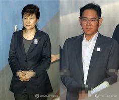 박근혜 전 대통령(왼쪽)과 이재용 삼성전자 부회장. [연합뉴스 자료사진]