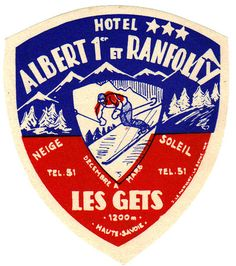 Typographic hotel label design
