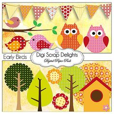 Digital Scrapbooking: Polka Dot or Spotted Owls Scrapbook Element Pack w Owls… Spotted Owl, Owl Parties, Patch, Classroom Decor, Digital Scrapbooking, Polka Dots, Clip Art, Kids Rugs, Quilts