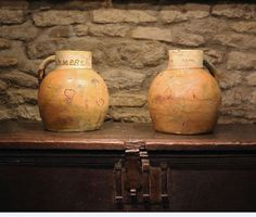 English Devon Pottery Cider Jug Inscribed Farmers Arms and Dated 1829 image 5