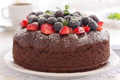 The Easy Chocolate Cake Recipe is one of the most simple cake recipes that you can make with or without eggs.