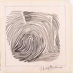 "Roy Lichtenstein. American, 1923–1997. Thumbprint. 1964. Pencil on paper, 53⁄4 x 53⁄4"" (14.6 x 14.6)."