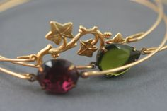 the winery gold Bangle bracelet set $34