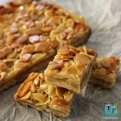 Join us I will start this post by saying I can't claim the credit for this delicious recipe. I was recently holidaying at my (brownie desserts honey) Sweet Recipes, Cake Recipes, Dessert Recipes, Ww Recipes, Healthy Recipes, Chocolate Caramel Slice, Almond Pastry, Honey Almonds, Thermomix Desserts
