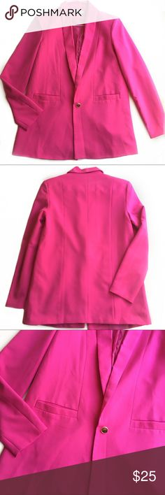 TOBI | Hot Pink Oversized Pink Blazer Size Small Tobi hot pink blazer Blazer is free of stains or holes.   Bundle two or more items in my closet for a low price offer! Tobi Jackets & Coats Blazers