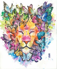 león multicolor