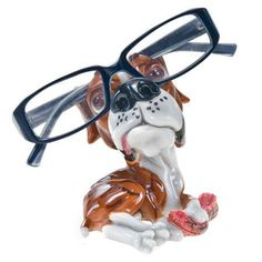 Boxer Dog Eyeglass Holder with Glasses Silly Pictures, Funny Animal Pictures, Funny Animals, Animal Pics, Eyeglass Holder Stand, Paws And Claws, Boxer Dogs, Boxers, Dog Gifts