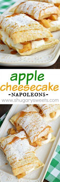 Apple Cheesecake Napoleons