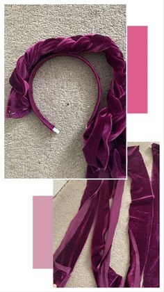 Create your Own Velvet Braided Headband Braided Velvet Headband Tut. Create your Own Velvet Braided Headband Braided Velvet Headband Tutorial – One CrafD Braid Headband Tutorial, Knot Headband, Headband Styles, Fabric Headbands, Turban Headbands, Braided Headbands, Handmade Headbands, Diy Tresses, Diy Braids