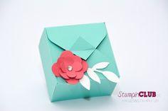 DSC_2189 Stampin Up Box Verpackung Envelope Punch Board Stanz- und Falzbrett für Umschläge Sizzix Little Leaves Floral Fusion