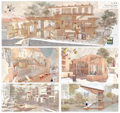 Inspiriting Chinatown 重生 - by Lim Hui Zhen Zanne Open Architecture, Architecture Collage, Architecture Portfolio, School Architecture, Architecture Diagrams, Architectural Presentation, Architectural Models, Architectural Drawings, Urban Analysis