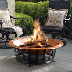 Copper Fire Pit by Frontgate.perfect for outdoor entertaining this autumn.