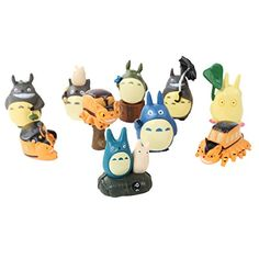 Each party favor has one of these cute figurines to help the acorns grow!  +++++  Totoro 10 Piece Figure Set Including Chu Totoro, Chibi, and Catbus Totoro
