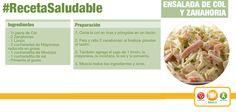 Ensalada de col y zanahoria. La col clasifica como un aliado del organismo contra el cáncer. Es también una fuente excelente de vitamina C, fibra, potasio, entre otros.
