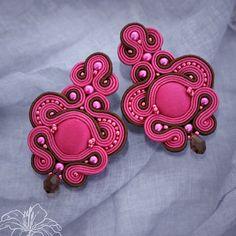 Soutache earrings Roselyn | author: Zuzana Hampelova Valesova (Lillian Bann) | www.z-art-eshop.cz | http://www.facebook.com/pages/Z-ART/539656212733510