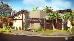 Projeto residencial cond. Portal dos Buritis, realizado pela empresa Vida verde. Render Rafael Almeida Fagundes!